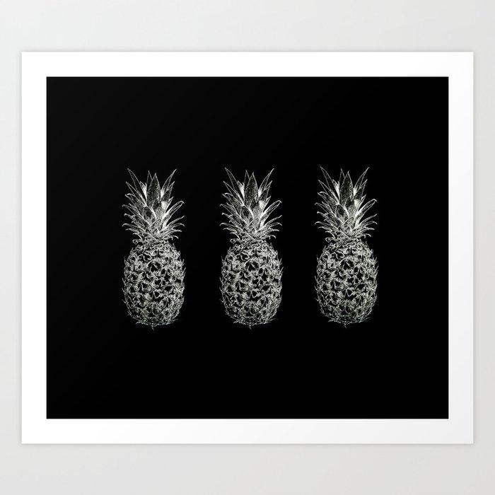 Serious Pineapples Art Print