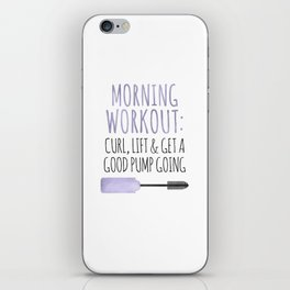 Morning Workout iPhone Skin