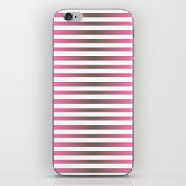 Stripes In Black & Pink iPhone Skin