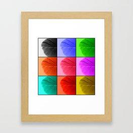 Pop Feathers Framed Art Print