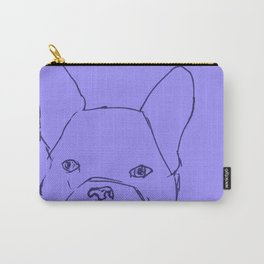 Sketched Frenchie (Blues) Carry-All Pouch