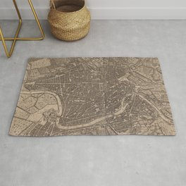 Vintage Map of Rome Italy (1730) Rug
