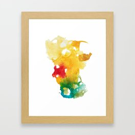 Flames Framed Art Print
