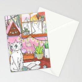 Gemini cat Stationery Cards