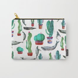 Cactus and Whales Carry-All Pouch