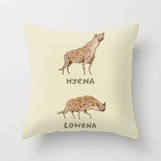 Hyena Lowena Throw Pillow