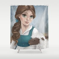 belle Shower Curtains featuring Belle by Geneviève Viel-Taschereau