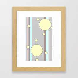 Bubble Stripe Curtains Framed Art Print