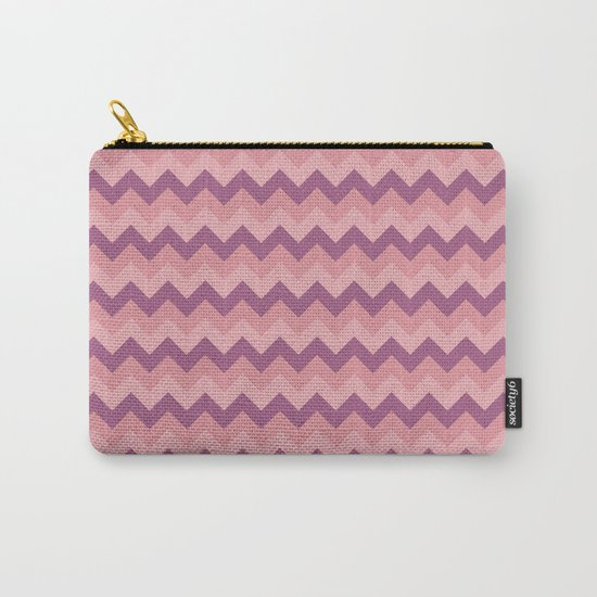 Colorful Chevron Pattern III Carry-All Pouch