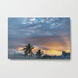 Wonderful Sunburst in the Morning at Sunrise in Noumea, New Caledonia. Metal Print