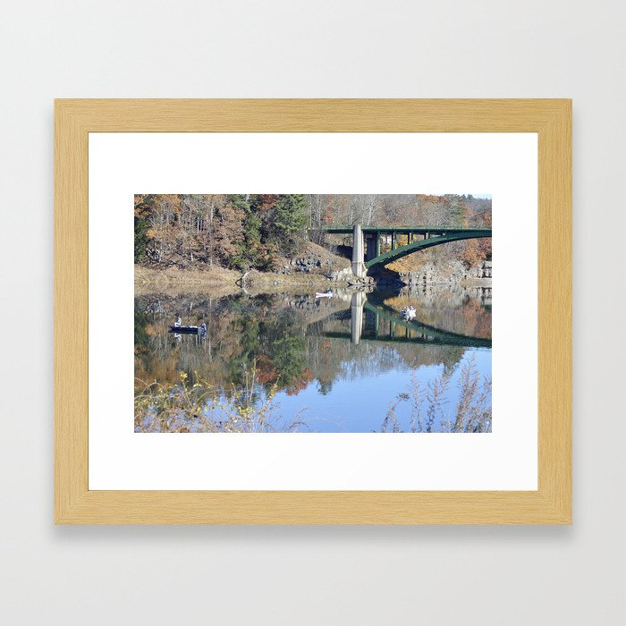 Shifting Totems & Fishing on the Delaware River Framed Art Print