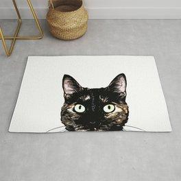 Peeking Cat Rug