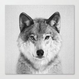Wolf 2 - Black & White Canvas Print