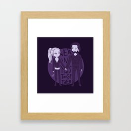 We're in this together Framed Art Print