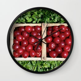 Prunus cerasus sour cherry fruit Wall Clock