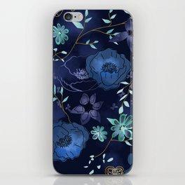 Cindy large floral print iPhone Skin