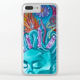 Frida's Crown Clear iPhone Case