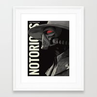 notorious Framed Art Prints featuring Notorious by MORPHEUS