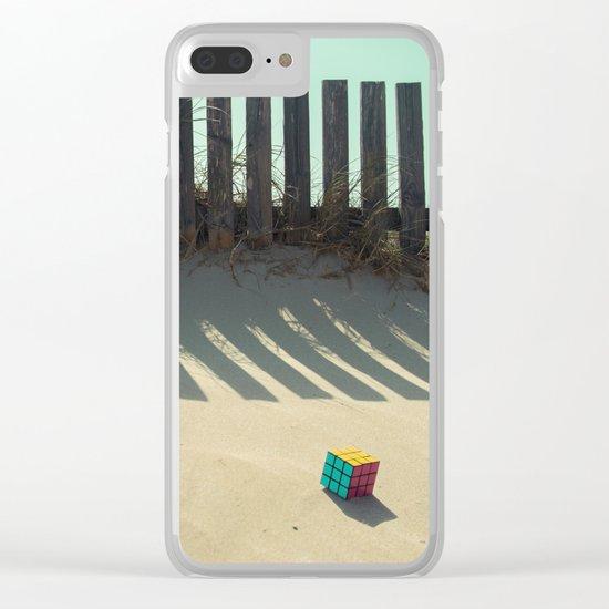 Rubik shading in the beach Clear iPhone Case