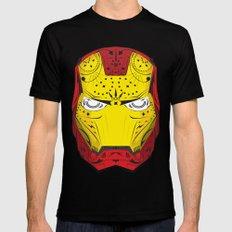 Sugary Iron Man MEDIUM Black Mens Fitted Tee