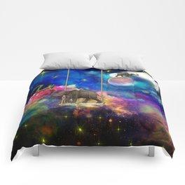 Space elephants Comforters