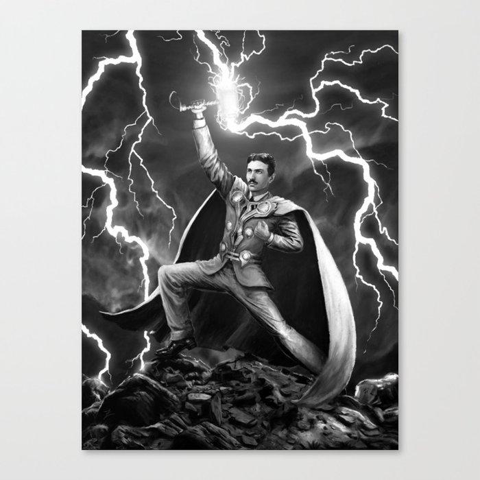 Tesla: God of Thunder Canvas Print