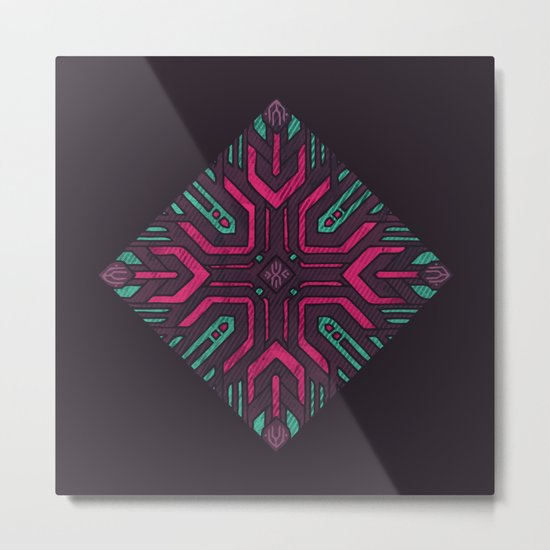 Neon Diamond Metal Print