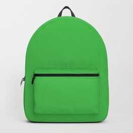 Solid Bright Kelly Green Color Backpack