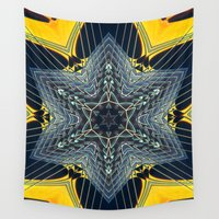 guitar Wall Tapestries featuring Guitar Kaleidoscope by JMcCool