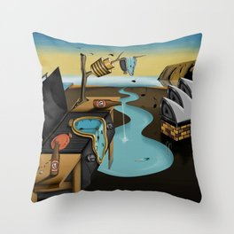 Where Time Stands Still - Surreal Sydney  Throw Pillow