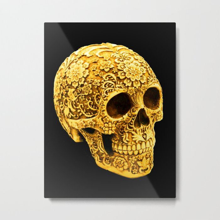 For the Love of Gold Metal Print