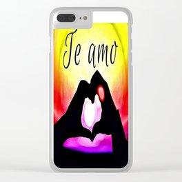 Te amo in Pop-art Clear iPhone Case