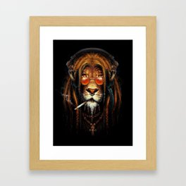 Lion of Jah Framed Art Print