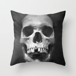 Human Skul Throw Pillow