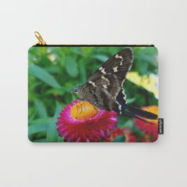 Hummingbird Moth on Flower Carry-All Pouch