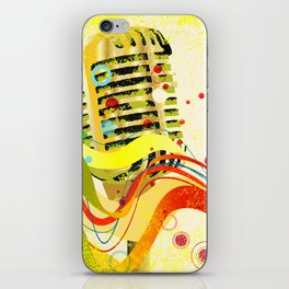 Jazz Microphone Poster iPhone Skin