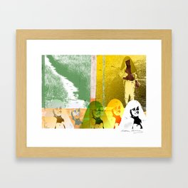 In the field Framed Art Print