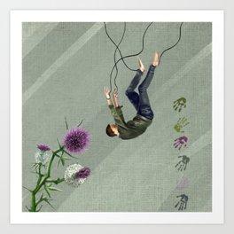 Free falling Art Print