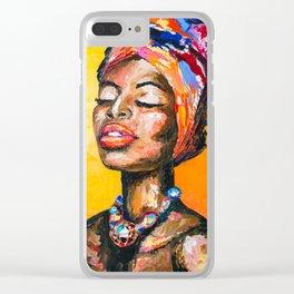 Black Magic Woman Clear iPhone Case