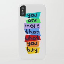 More Than Material iPhone Case