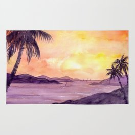 Sunset in the Tropics Rug