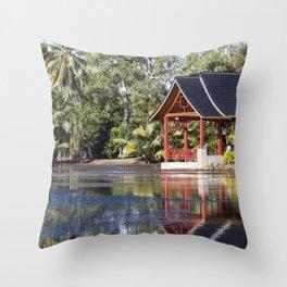 Peaceful Pagoda Throw Pillow