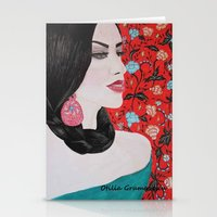 spanish Stationery Cards featuring Spanish Dreaming by otilia elena