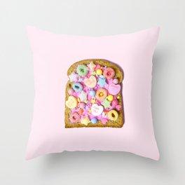Pink Sugar Toast Throw Pillow