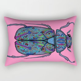 Psychedelic Scarab Beetle Rectangular Pillow