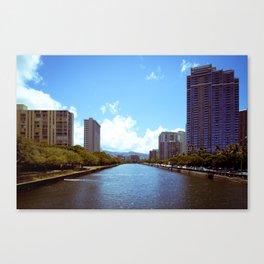 Ala Wai Waterway Canvas Print