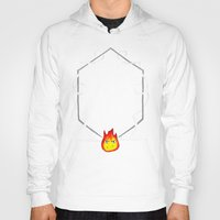 calcifer Hoodies featuring May All Your Bacon Burn by BiteMeFox
