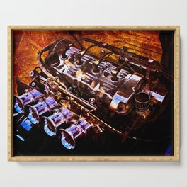Powerful Car Engine Color Serving Tray