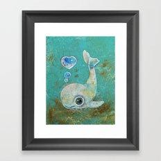 Baby Whale Framed Art Print