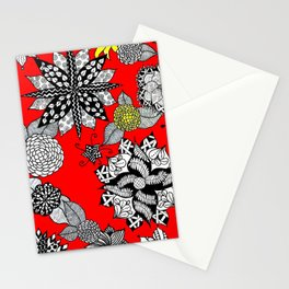 Pattern in Red  Stationery Cards